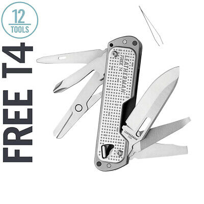 LEATHERMAN Free T4 Multi-Tool and EDC Pocket Knife, Stainles