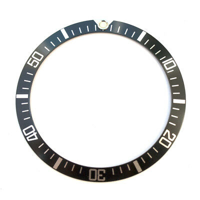 Black & Silver Bezel Insert to Fit Rolex Old Submariner w/ Military Markings