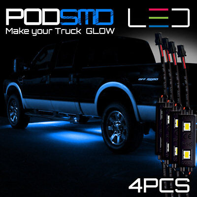 Blue LED 4X4/OFF Road Under Body Rock Lights Ultra Bright for Dodge Ram 1500