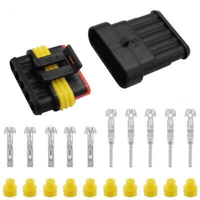 51020 Kit 5pins Way Car Auto Sealed Waterproof Electrical Wire Connector Plug