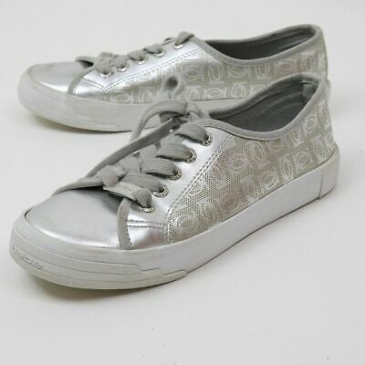 BEBE DANE Silver lace up sneaker women size 7