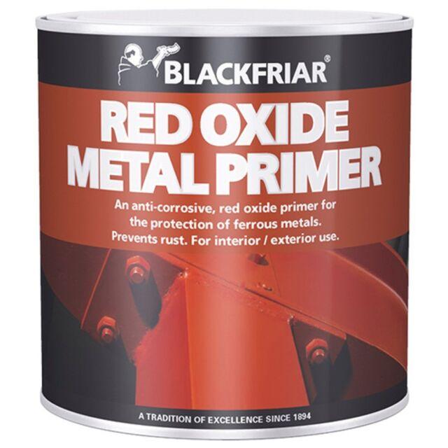 Blackfriar Red Oxide Metal Primer Interior Exterior Ferrous Metals - 2.5 Litre