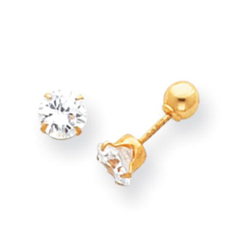 14k White Gold Madi K 5mm Ball Post Earrings