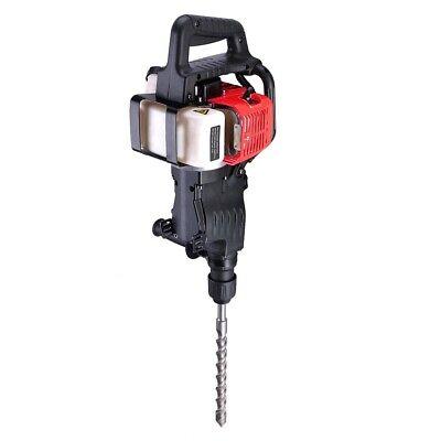 2in1 Gas Demolition Jack Hammer  Drill Chisel Concrete Breaker Bit 32.7cc Epa