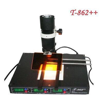 Ir Infrared Bga Rework Station T862 600w Pre-heating Soldering Tool Smt Smd Us