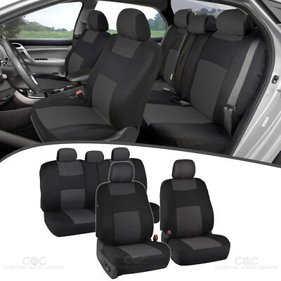 Buick Rendezvous 06 2006 Car (Charcoal Seat Covers for Car Double Stitched Split Bench)