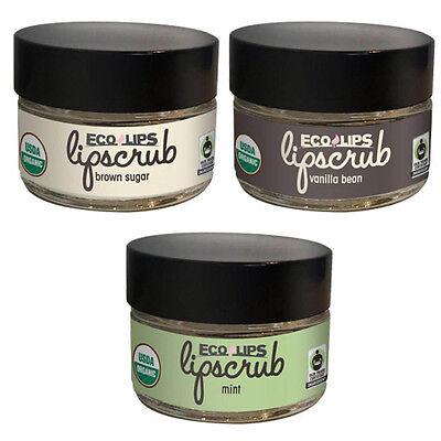 ECO LIPS® Organic Lip Scrub~ Sugar Scrub - 100% edible. 0.50 oz (14.2 G) jar.