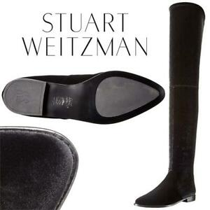 61fec25913a Stuart Weitzman Womens Leggylady Motorcycle Boot Black Condtion  Lightly  Used