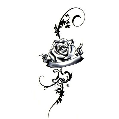 Einmal Tattoo Rose Temporary Tattoo Hautaufkleber Blume Temporäre Tattoos 05