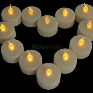 12x New Flicker Light Flameless LED Tealight Tea Candles Home Decoration Fashion