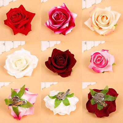 1Pc Rose Flower Hair Clip Hairpin Brooch Wedding Bridesmaid Bridal Party Supply