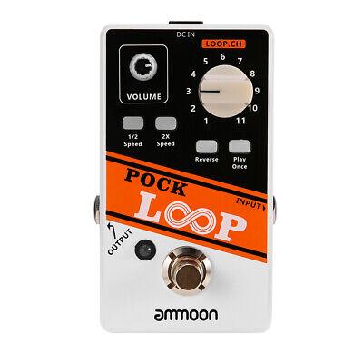 ammoon POCK LOOP Looper Guitar Effect Pedal 11 Loopers True Bypass DC9V UK