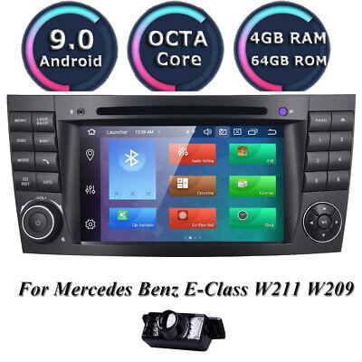64GB+4GB Android 9.0 Autoradio DVD GPS NAVI für Mercedes Benz E/CLS Klasse W211