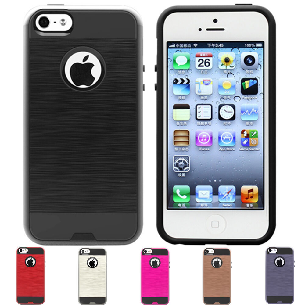 ShockProof Hard Armor Slim Hybrid Phone Case Cover iPhone 5