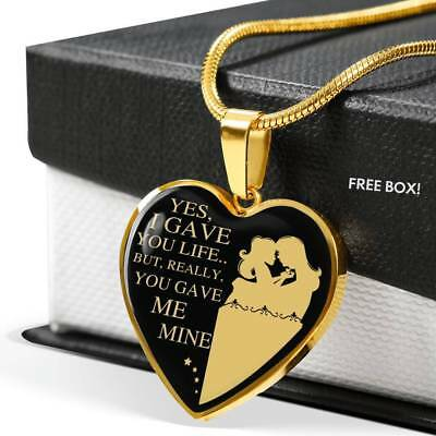 To My Daughter Heart Necklace - Mother And Daughter - Best Gift For Teen (Best Heart Necklaces For Teens Girls)