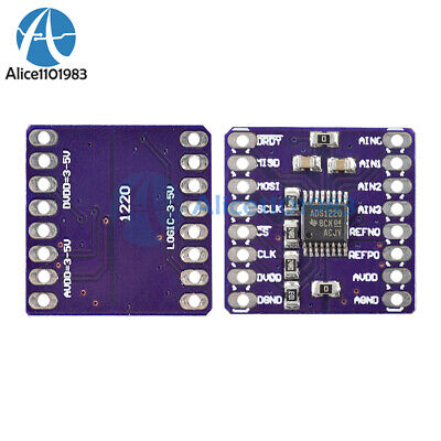 Ads1220 Low-power 24-bit Analog To Digital Converter Adc Spi I2ciic For Arduino