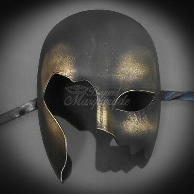 Black & Gold Masquerade Mask, Venetian Cosplay Costume Party DIY Mask (M0014)