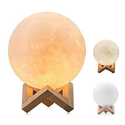 Moon Night Light (3D LED Moon Night Light Table Desk Lamp Home Decor Touch Sensor Rechargeable)