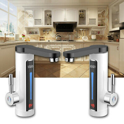 Electric LED Heating faucet Tap Instant Hot Water Fast Heat Kitchen Bathroom