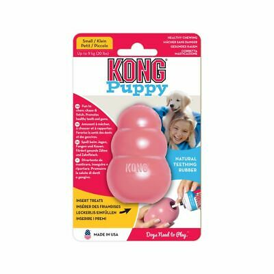 KONG Puppy SMALL Rubber Treat Dispenser Dog Toy - PINK