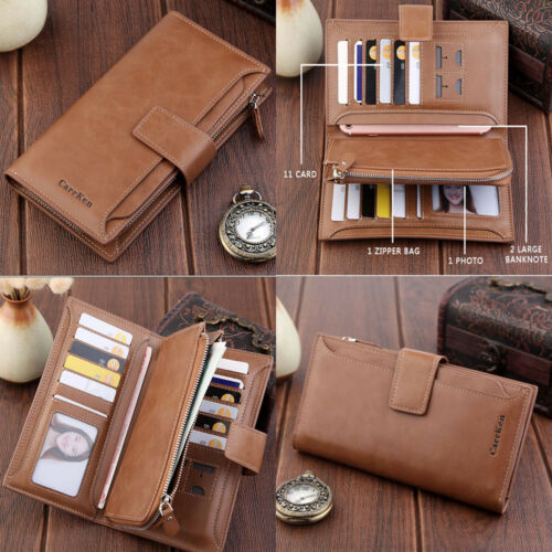 New Fashion Lady Women Leather Clutch Wallet Long Card Holde