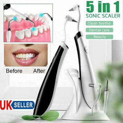 5 In 1 Led Ultrasonic Electric Scaler Tooth Polishing Cleaner Oral Teeth Clean