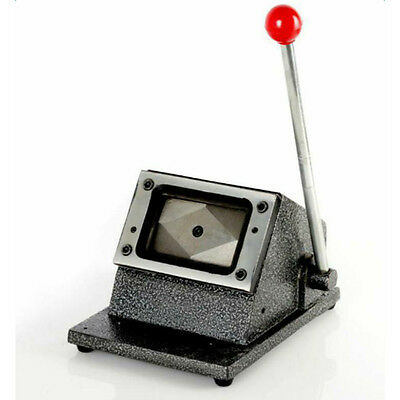 Heavy Duty ID Badge Credit PVC Cards Cutter Paper Card Punch Round Corner Die US