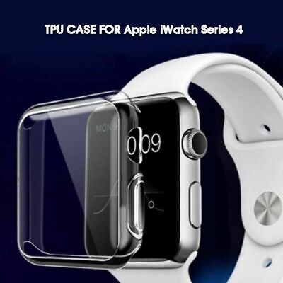 TPU Clear Slim Soft Case Cover Screen Protector Film for Apple Watch series 4