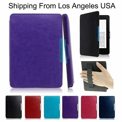 (PU Leather Smart Shell Case Cover for Amazon Kindle Paperwhite1/2/3 NEW Case 6'')