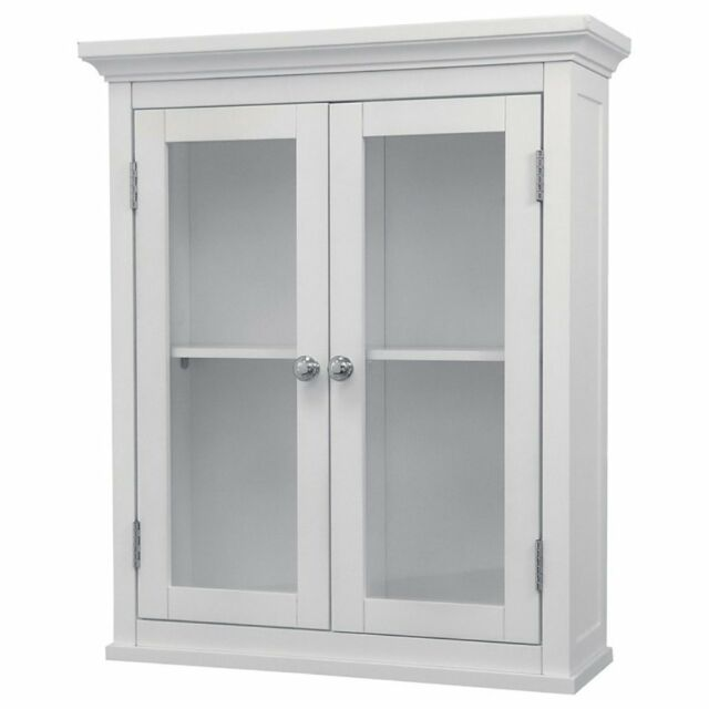 madison wall cabinet with 2 doors white