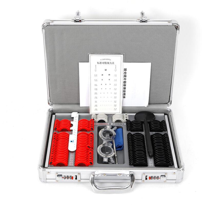 104PCS Optometry Trial Lens Set Case Optometry Box Glasses Optometry Equipment