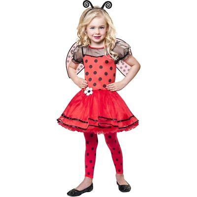 Ladybug Girls Beautiful Bug Halloween 4PC Red Child Costume Size M (8-10) NWT](Bug Halloween)