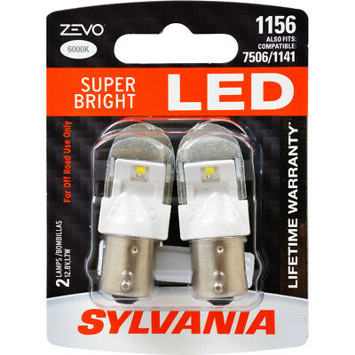 Back Up Light Bulb-ZEVO Blister Pack Twin Rear/Front SYLVANIA 1156LED.BP2