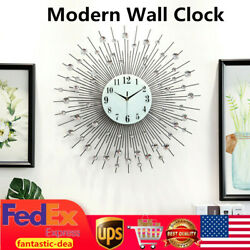 60cm Modern Wall Clock Diamond Decor Round Wall Clock Home Office Room Decor USA