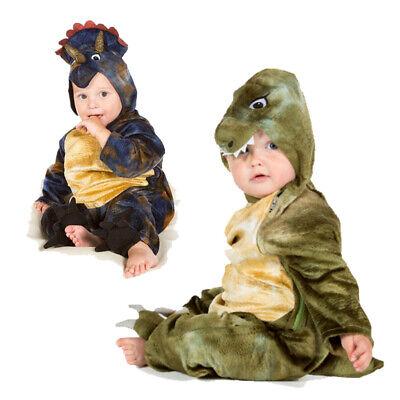 Dinosaur Costume For Girls (BABY TODDLER BOYS GIRLS T REX TRICERATOPS DINOSAUR FANCY DRESS COSTUME)