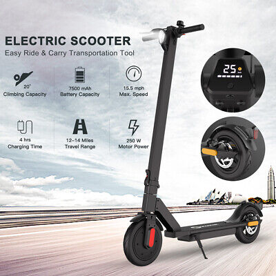 FOLDING ELECTRIC SCOOTER 7.5AH BATT ADULT KICK E-SCOOTER SAFE URBAN COMMUTER