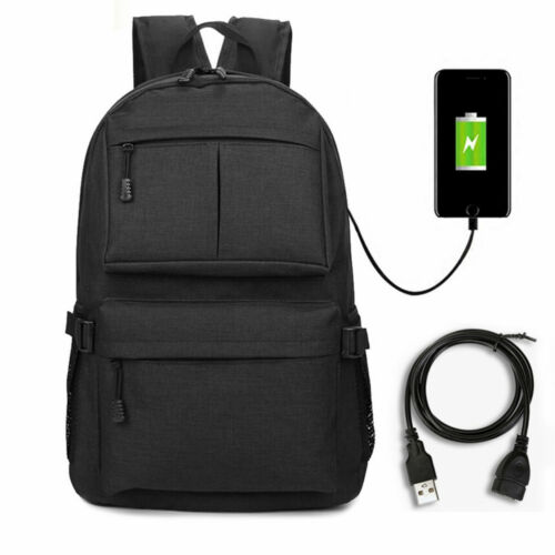 Men Women Anti-theft Laptop Notebook Backpack +USB Charging