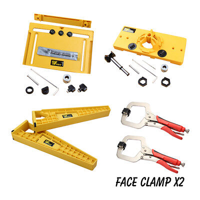 - Drawer Slide Mounting Tool Cabinet Hardware Jig Hinge Jig and 2 Face Clamps