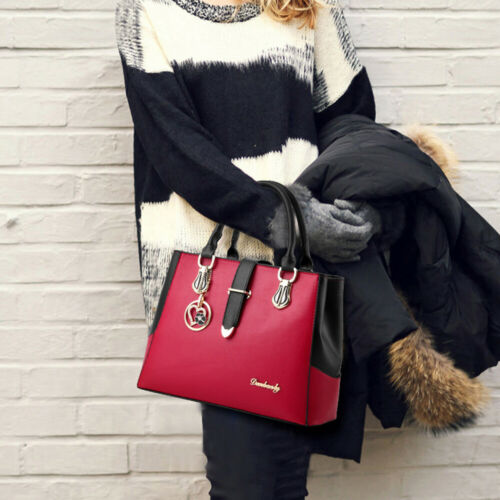 Women PU Leather Handbag Shoulder Messenger Satchel Tote Purse Crossbody Bag 9