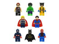 8pcs superheroes batman hulk spiderman superman mini figures