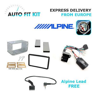 Alfa Brera 159 Fitting Kit + Steering Wheel Adaptor CTAR002.2 & Alpine Lead free