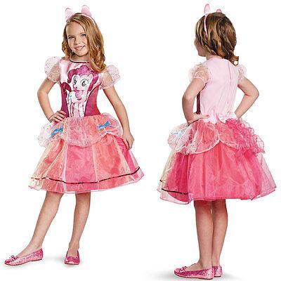 Girls PINK CHILD Deluxe My Little Pony Pinkie Pie HALLOWEEN Costume MEDIUM 7-8