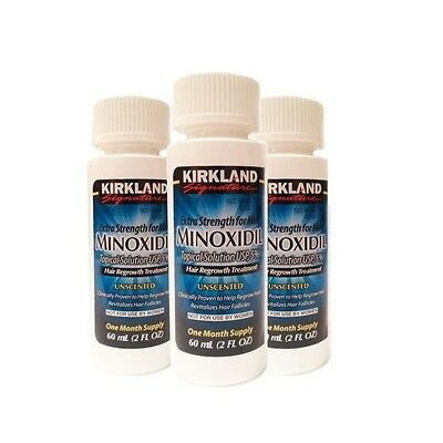 Kirkland Minoxidil 5% Extra Strength Men Hair Regrowth Solution 90 Days Supply