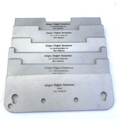 6-integrapadgett Dermatome Model S6 Electric Dermatome Width Cutting Clips