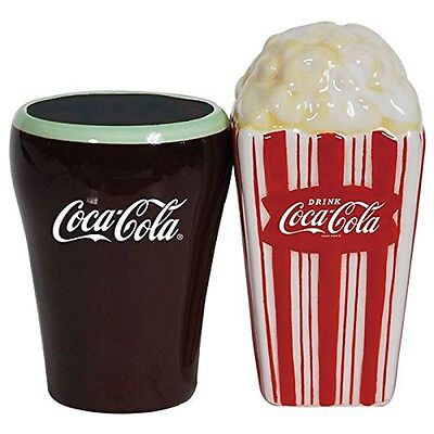 Coca Cola and Popcorn Ceramic Salt & Pepper Shakers - Westland