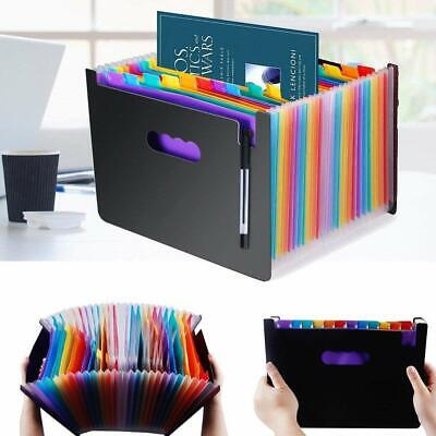 Expandable 24 Pockets File Folder Organizer Hanging With Colorful Labels Tabs
