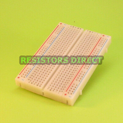 400 Tie Point Solderless Mini Prototype Breadboard Contacts Arduino Raspberry Pi