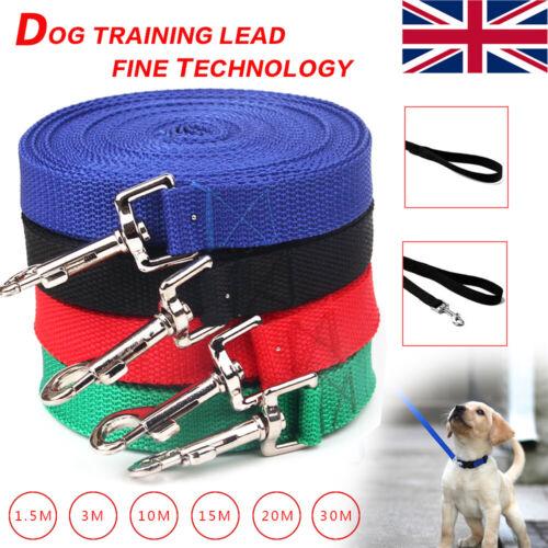Dog Training Lead Strong Rope Webbing Halter Control Leash Recall 3M 10M 20M 30M