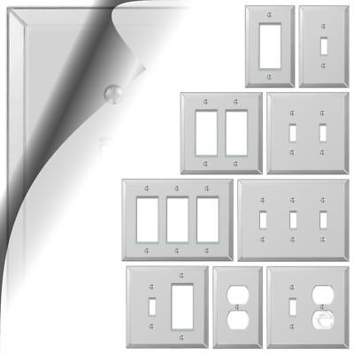 Gfi Gfci Outlet - Mirror Switch Plate Acrylic Wallplate Toggle Duplex Outlet Cover Rocker GFCI GFI