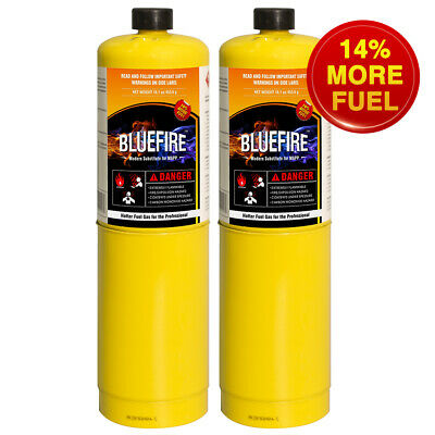 Pack Of 2 Bluefire Mapp Map Pro Gas Fuel Cylinder16.1 Oz Hotter Than Propane